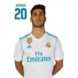 Postal Real Madrid 2017/2018 Asensio