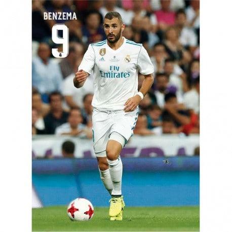 Postal Real Madrid 2017/2018 Benzema Accion