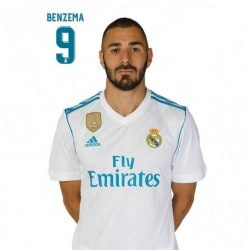 Postal Real Madrid 2017/2018 Benzema
