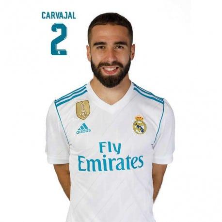 Postal Real Madrid 2017/2018 Carvajal