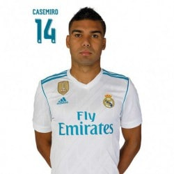 Postal Real Madrid 2017/2018 Casemiro