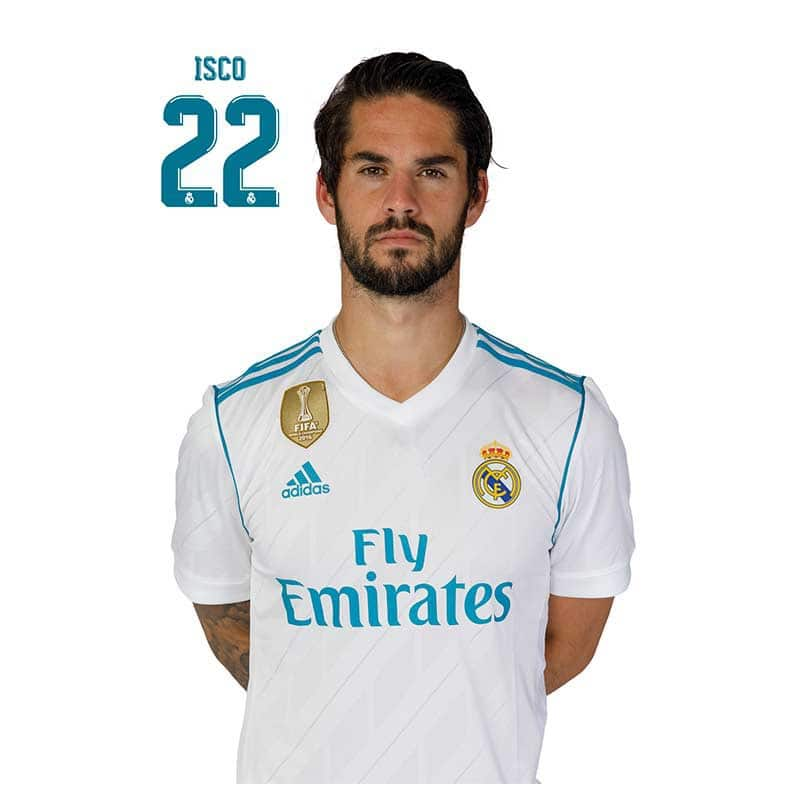Postal Real Madrid 2017 2018 Isco Nosoloposters Com