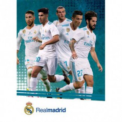 Postal Real Madrid 2017/2018 Jugadores Accion