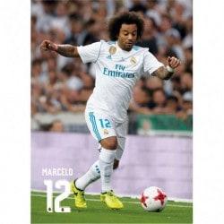 Postal Real Madrid 2017/2018 Marcelo Accion