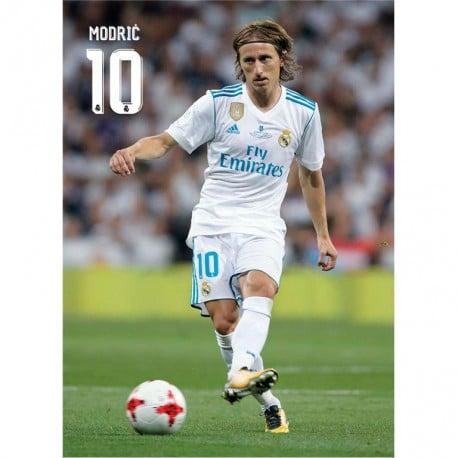 Postal Real Madrid 2017 2018 Modric Accion Nosoloposters Com