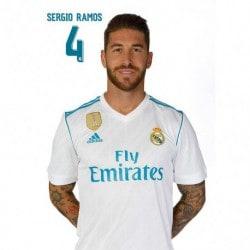 Postal Real Madrid 2017/2018 Sergio Ramos