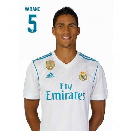 Postal Real Madrid 2017/2018 Varane