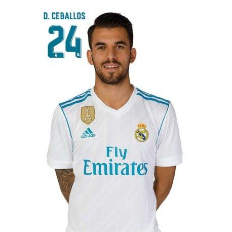Postal Real Madrid 2017/2018 D. Ceballos