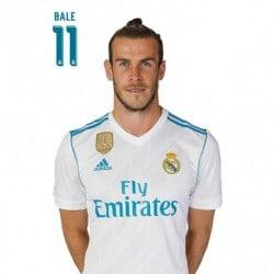 Postal Real Madrid A4 2017/2018 Bale