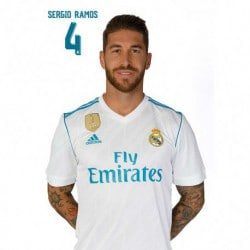 Postal Real Madrid A4 2017/2018 Sergio Ramos