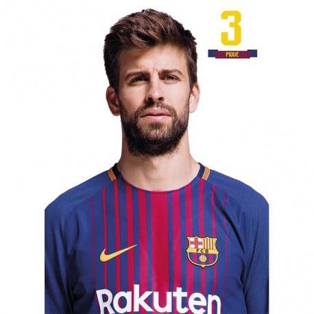 Postal FC Barcelona 2017/2018 Pique
