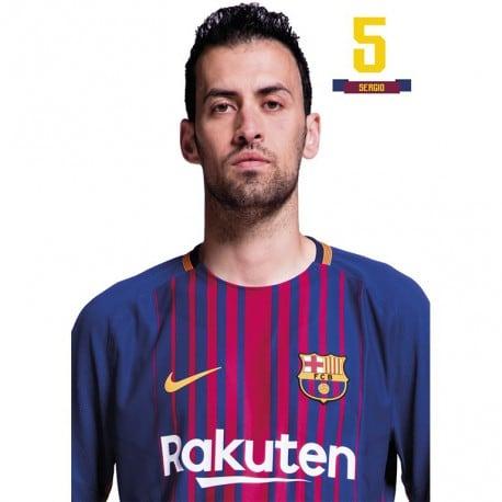 Postal FC Barcelona 2017/2018 Sergio