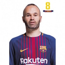 Postal FC Barcelona 2017/2018 A. Iniesta