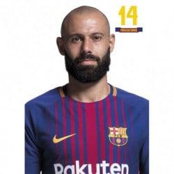Postal FC Barcelona 2017/2018 Mascherano