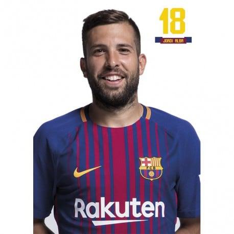 Postal FC Barcelona 2017/2018 Jordi Alba