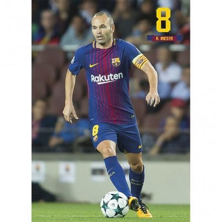 Postal FC Barcelona 2017/2018 A. Iniesta Accion