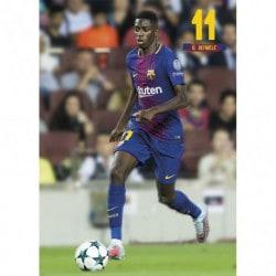 Postal FC Barcelona 2017/2018 Dembele Accion