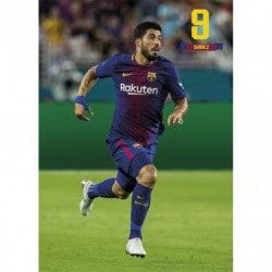 Postal FC Barcelona 2017/2018 Luis Suarez Accion
