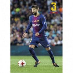 Postal FC Barcelona 2017/2018 Pique Accion