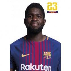 Postal FC Barcelona 2017/2018 Umtiti