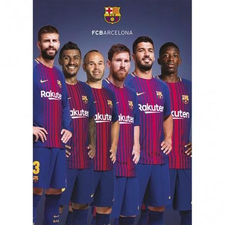 Postal FC Barcelona 2017/2018 A4 Grupo 5 Jugadores