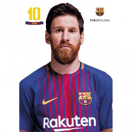 Postal Fc Barcelona A4 2017/2018 Messi Busto