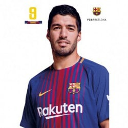 Postal FC Barcelona 2017/2018 A4 Luis Suarez