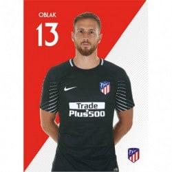 Postal Atletico Madrid 2017/2018 Oblack