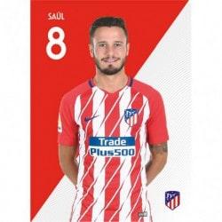 Postal Atletico Madrid 2017/2018 Saul