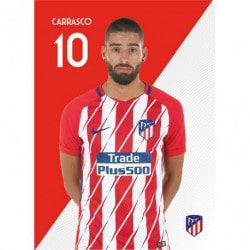 Postal Atletico Madrid 2017/2018 Carrasco