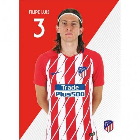 Postal Atletico Madrid 2017/2018 Filipe Luis