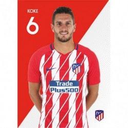 Postal Atletico Madrid 2017/2018 Koke
