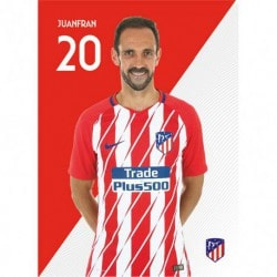 Postal Atletico Madrid 2017/2018 Juanfran