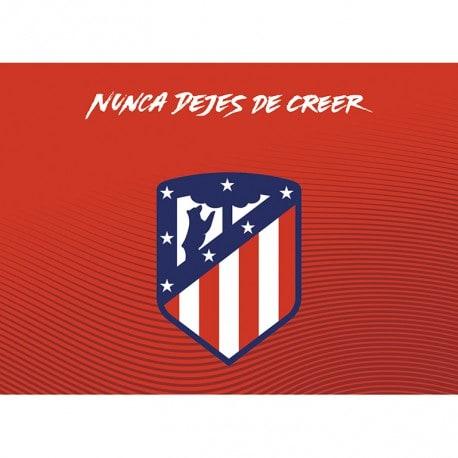 Postal Atletico Madrid 2017/2018 Escudo