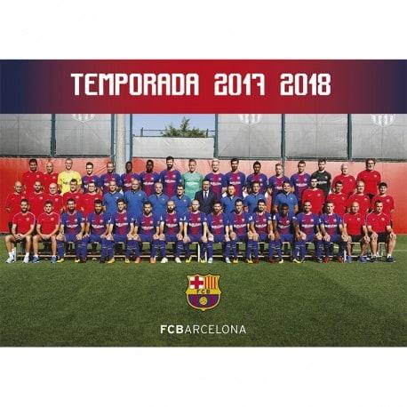 Postal FC Barcelona 2017/2018 A4 Plantilla