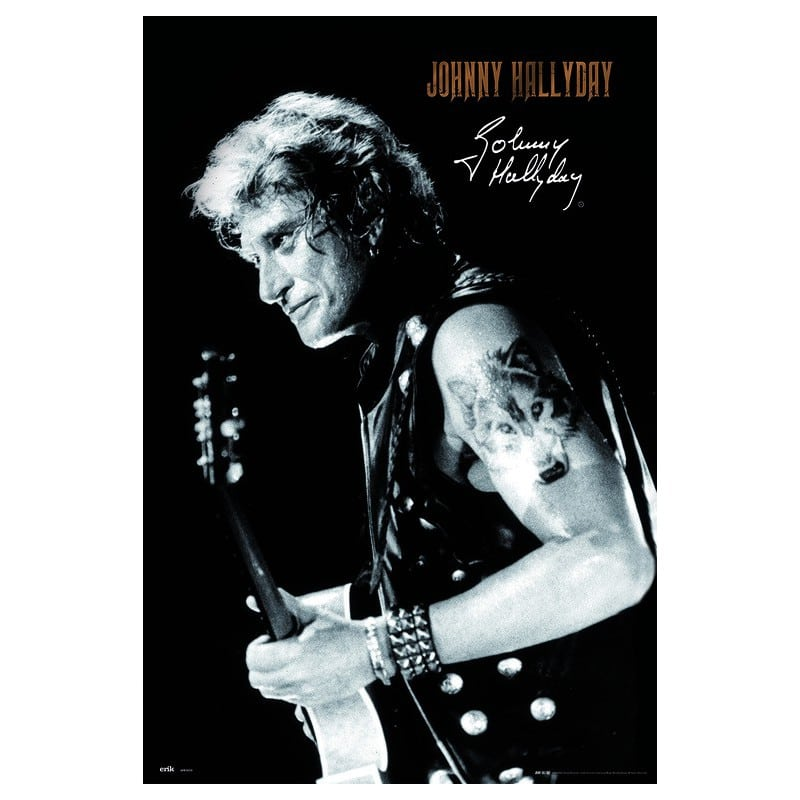 poster johnny hallyday firma. Black Bedroom Furniture Sets. Home Design Ideas