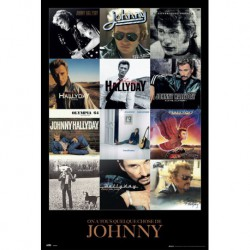 Poster Johnny Hallyday Covers
