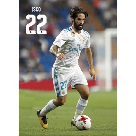 Postal Real Madrid 2017/2018 Isco Accion