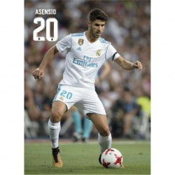 Postal Real Madrid 2017/2018 Asensio Accion