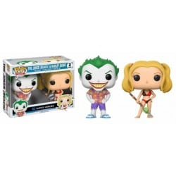Figura Pop 2 Pack DC Comics Beach Joker And Harley -9 cm