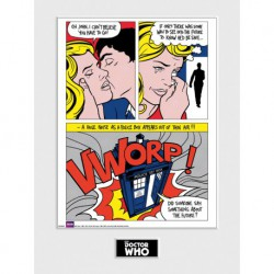 Art Print 30X40 Doctor Who Pop Art