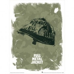 Art Print 30X40 Full Metal Jacket Helmet
