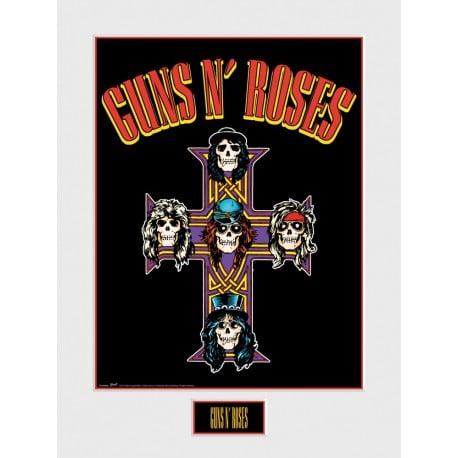 Art Print 30X40 Guns N Roses Cross