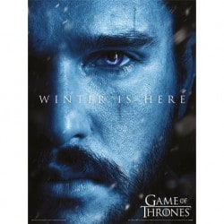Art Print 30X40 Juego de Tronos Winter Is Here Jon