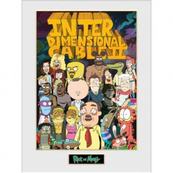 Art Print 30X40 Rick And Morty Inter Dimensional