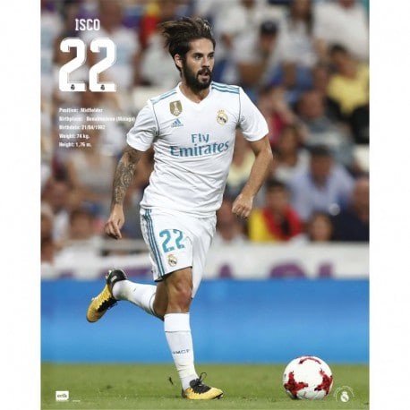Mini Poster Real Madrid 2017/2018 Isco