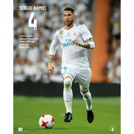 Mini Poster Real Madrid 2017/2018 Sergio Ramos
