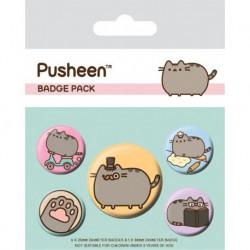 Pack de Chapas Pusheen Fancy