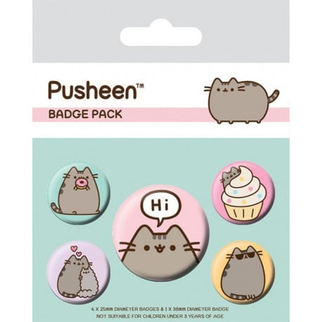 Pack de Chapas Pusheen Says Hi