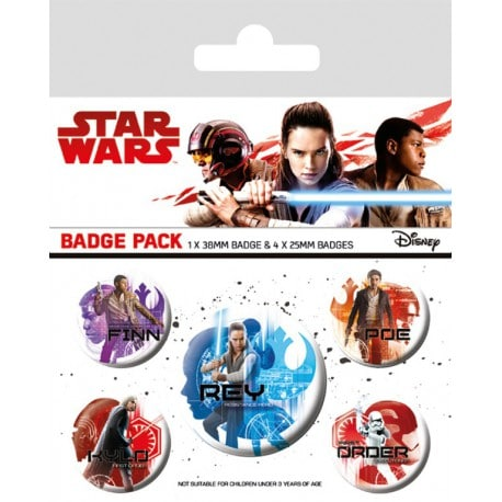 Pack de Chapas Star Wars VIII Iconos